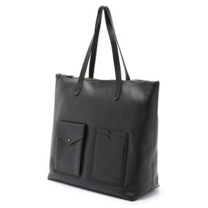 Madewell Leather Transport Tote w/ Pockets Black